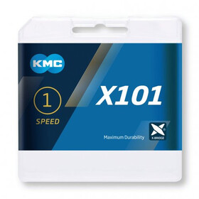 KMC X101 Ketting 1-speed, silver
